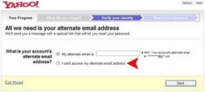 Alternate Email Address
