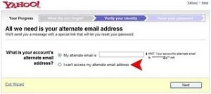 Alternate Email Address